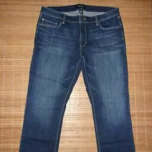 White House Black Market Crop Leg Jean Size 14